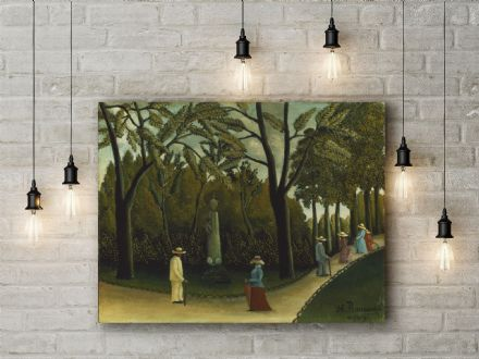 Henri Rousseau: The Monument to Chopin in the Luxembourg Gardens. Fine Art Canvas.